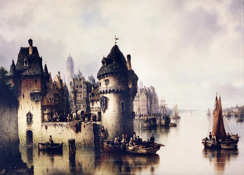 Ludwig Hermann On the Rhine 12104 2426. часть 4 - европейского искусства Европейская живопись