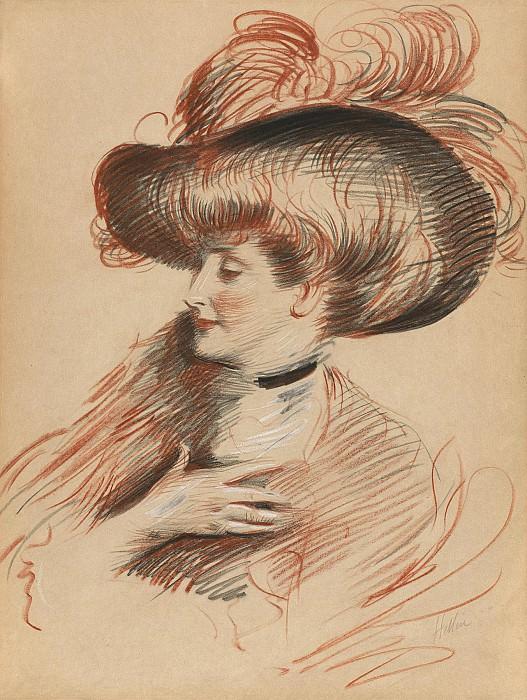 Эллё, Поль Сезар Portrait de Madame de Guerin nee Colb Bernard amie de Paul Cesar Helleu 28335 20. часть 4 - европейского искусства Европейская живопись
