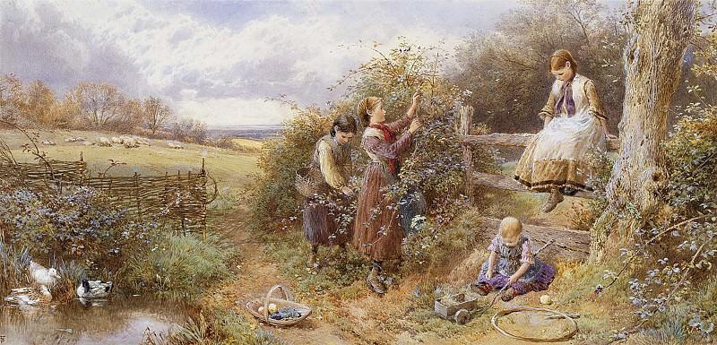 Myles Birket Foster The Blackberry Gatherers 28285 20. часть 4 -- European art Европейская живопись