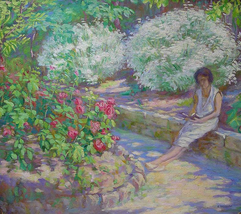 """RaphaГ""""l Leguilloux The young lady reading 40074 3306. часть 4 -- European art Европейская живопись"""