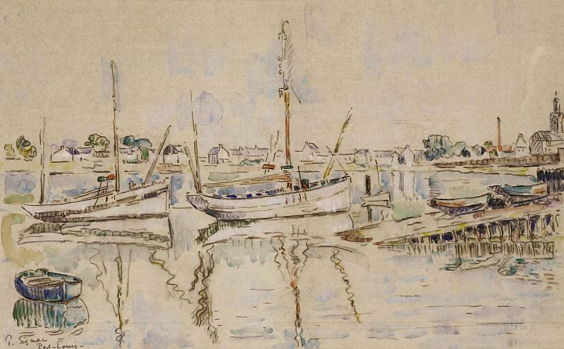 Paul SIGNAC Port Louis 40980 3449. часть 4 - европейского искусства Европейская живопись