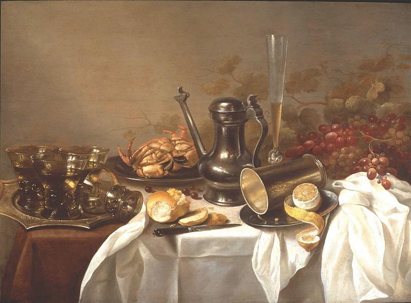 Pieter Claesz and Roelof Koets Breakfast Still Life 80559 276. часть 4 -- European art Европейская живопись