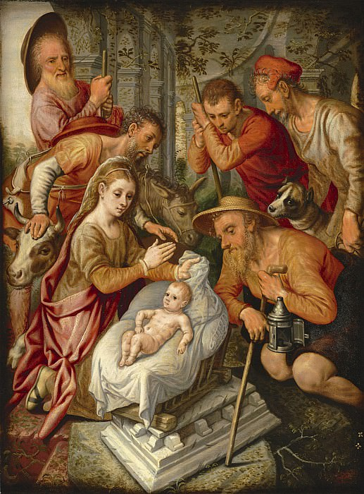 Pieter Pietersz Aertsen Adoration of the Sheperds 85039 321. часть 4 -- European art Европейская живопись