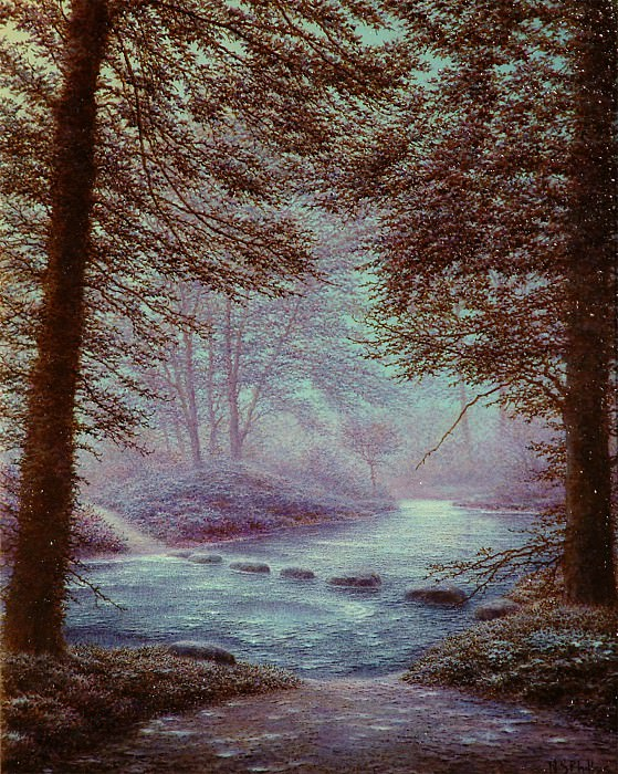 Nicholas Stephen Phillips Summer Night Lamorna Valley Cornwall 29447 2426. часть 4 -- European art Европейская живопись