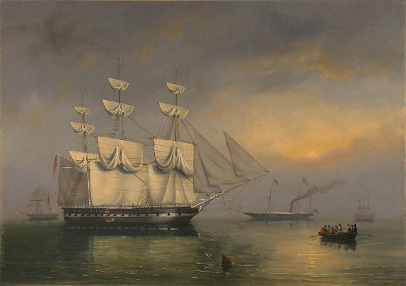 Philip John Ouless The Royal Yacht Fairy with Queen Victoria on board 99660 20. часть 4 -- European art Европейская живопись