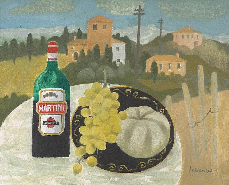 Mary Fedden The Martini bottle 98368 20. часть 4 -- European art Европейская живопись