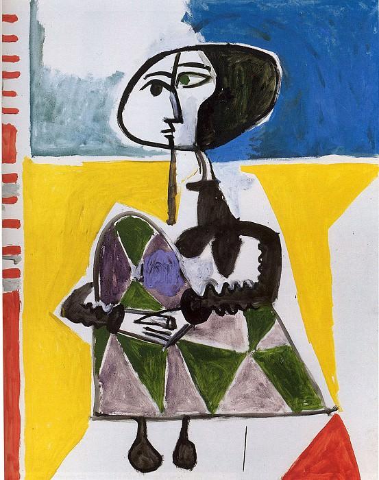 Pablo PICASSO Femme accroupie 81379 1146. часть 4 -- European art Европейская живопись