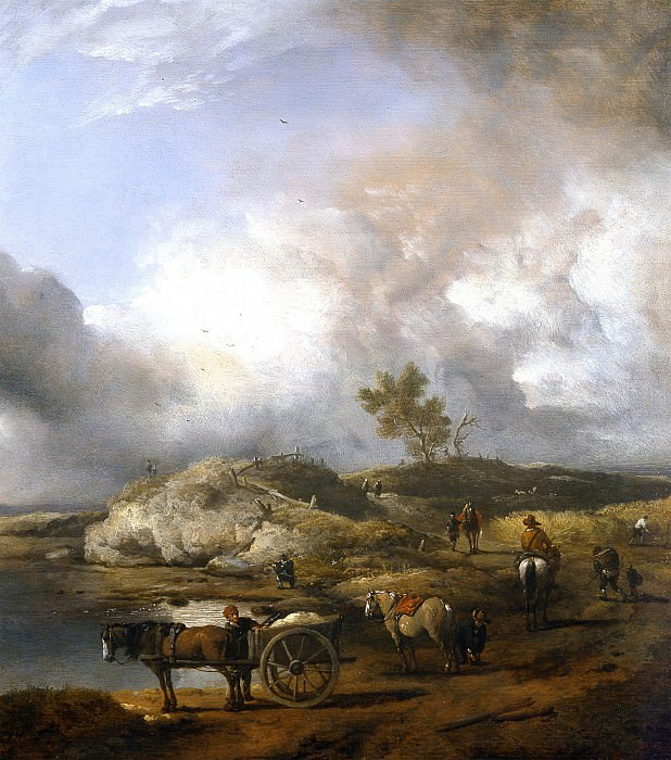 PHILIPS WOUWERMAN Landscape with Duck Hunter 83019 316. часть 4 -- European art Европейская живопись
