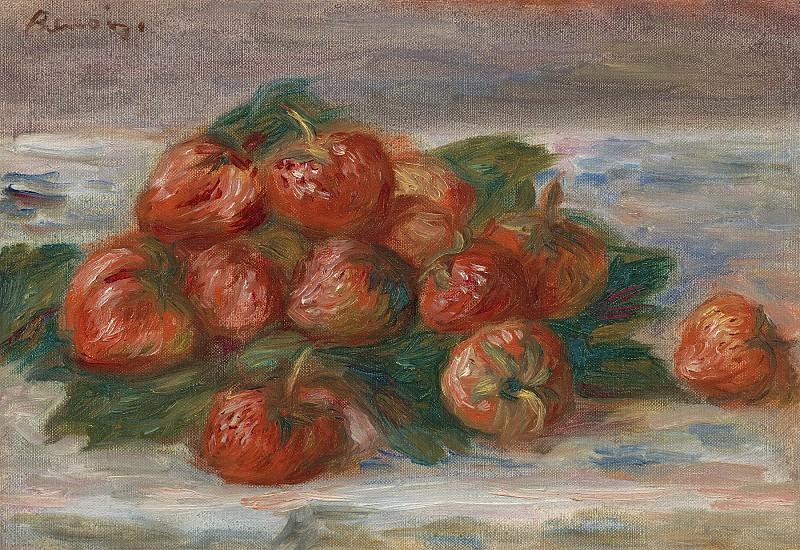 Pierre Auguste Renoir Nature morte aux fraises 99840 20. часть 4 -- European art Европейская живопись