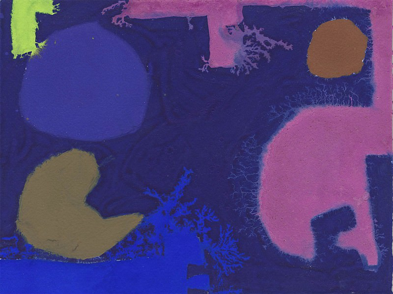 Patrick Heron Three Violets with Green and Brown 98720 20. часть 4 -- European art Европейская живопись