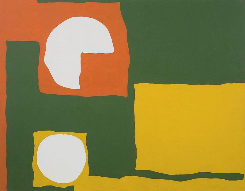Patrick Heron Orange Yellow Dull Green and White August 1965 98699 20. часть 4 -- European art Европейская живопись