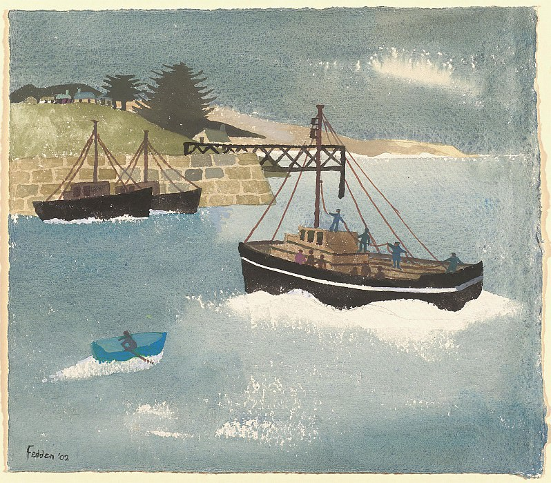 Mary Fedden Bringing home the catch 98219 20. часть 4 -- European art Европейская живопись