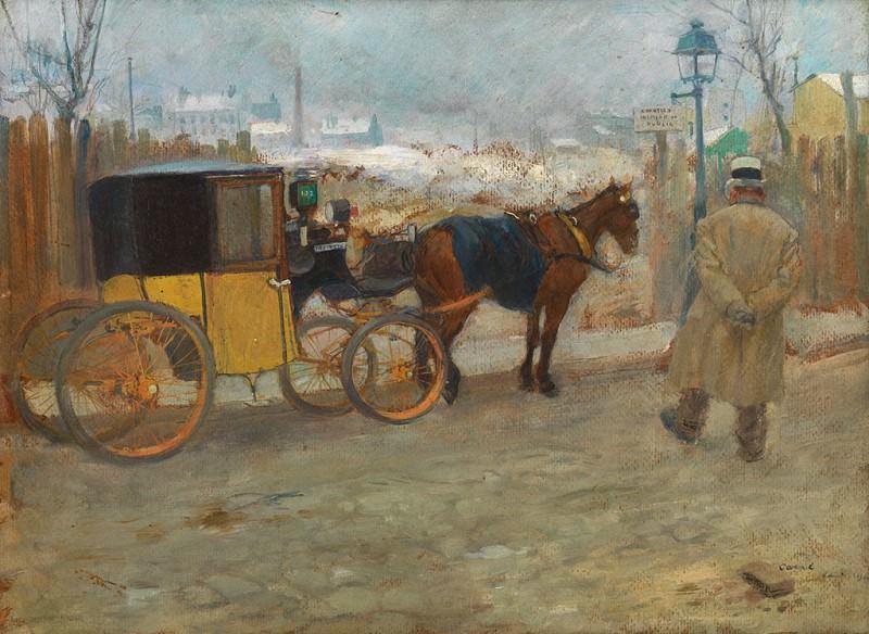 LГ©on CARRE A Parisian taxicab 90021 121. часть 4 -- European art Европейская живопись