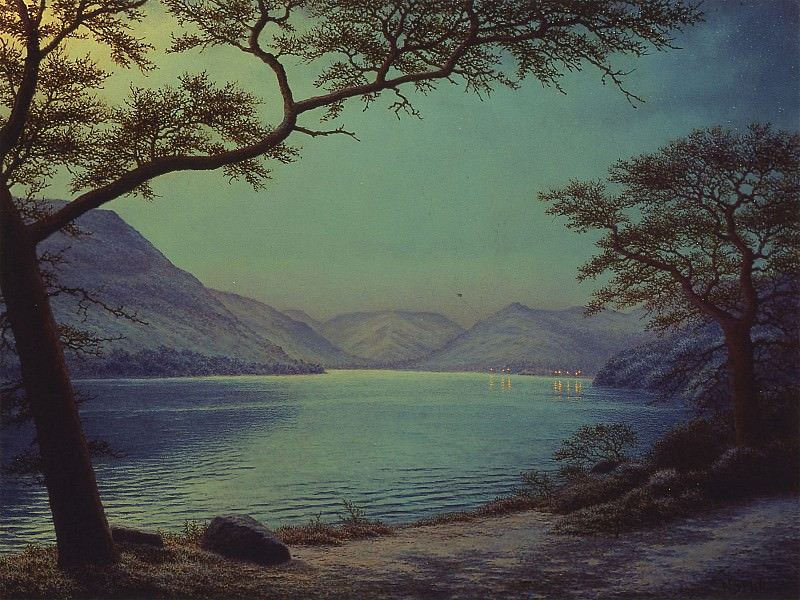 Nicholas Stephen Phillips Moonlight Over Lake Ullswater 29445 2426. часть 4 -- European art Европейская живопись