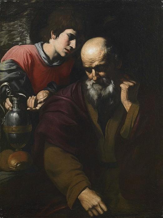 Paolo Domenico Finoglio Elijah and the Angel 27777 203. часть 4 -- European art Европейская живопись