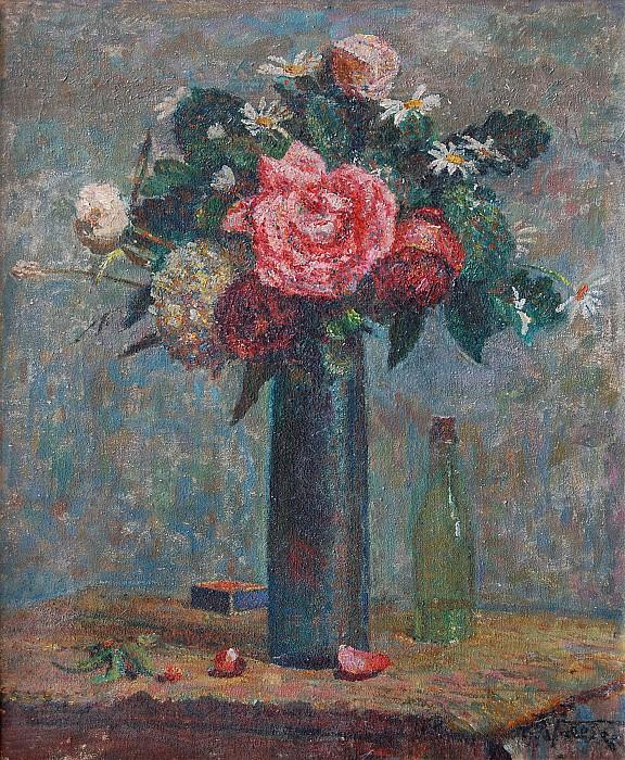 Ludovic VallГ©e Nature morte aux fleurs 4563 1184. часть 4 -- European art Европейская живопись
