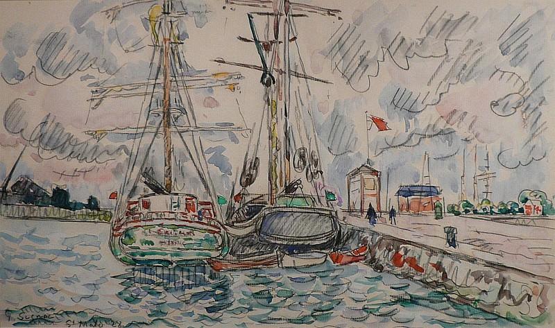 Paul SIGNAC Saint Malo 62939 3449. часть 4 -- European art Европейская живопись