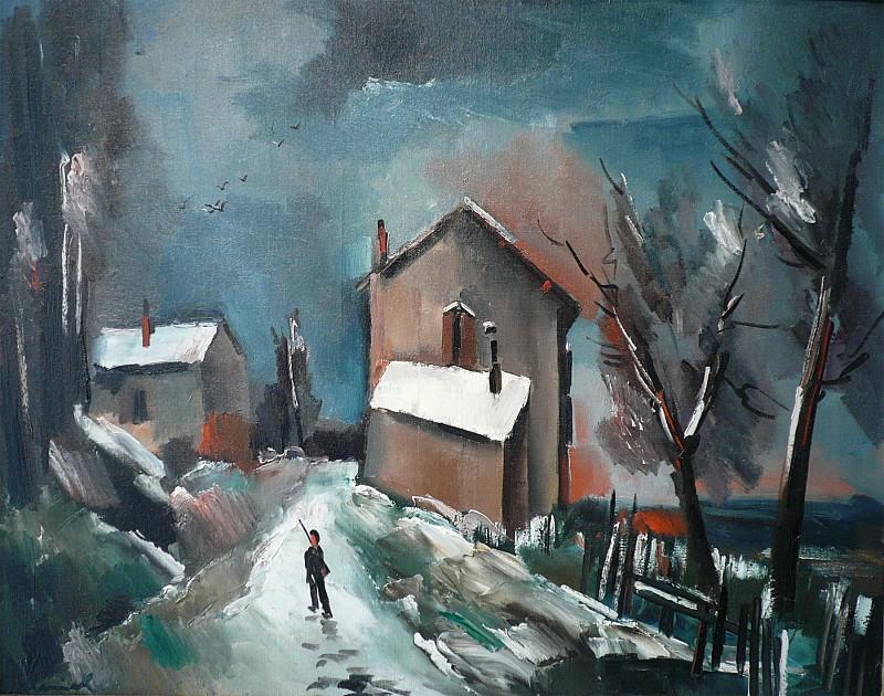 Maurice de VLAMINCK Une nuit en hiver 87779 3449. часть 4 -- European art Европейская живопись