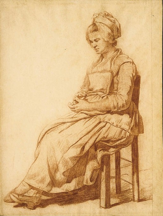 MARTIN DROLLING A Seated Woman 11343 172. часть 4 -- European art Европейская живопись