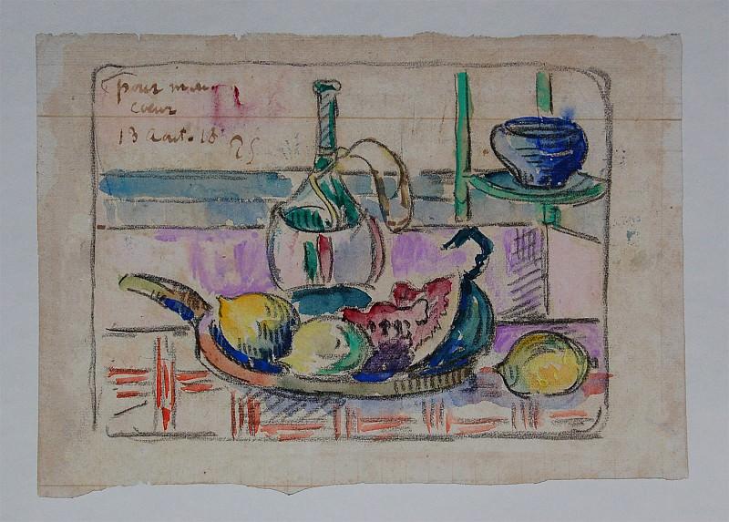 PAUL SIGNAC Nature morte aux citrons 31464 1184. часть 4 -- European art Европейская живопись