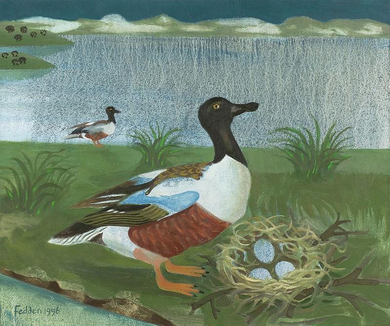 Mary Fedden Ducks 98259 20. часть 4 -- European art Европейская живопись