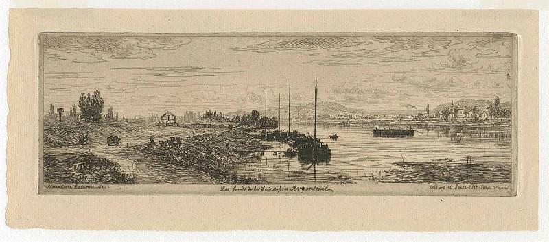 Maxime Lalanne Les Bords de la Seine Г Argenteuil 1869 122939 1124. часть 4 - европейского искусства Европейская живопись