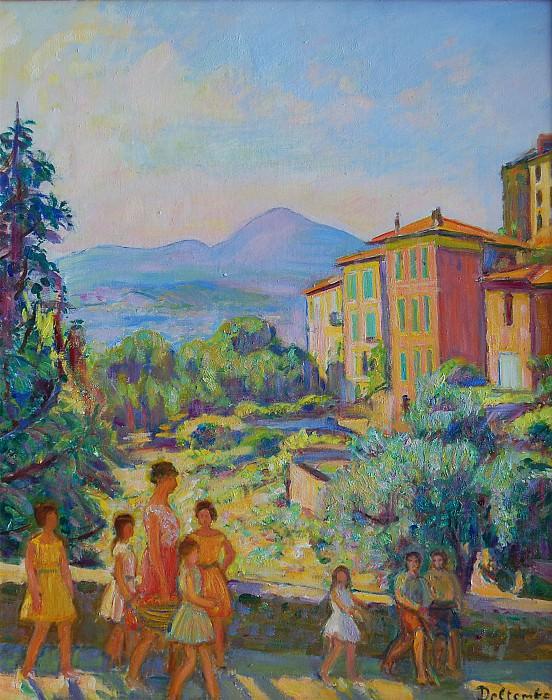 Paul Deltombe CitГ© Fighieras le chemin de l'école 20262 1184. часть 4 - европейского искусства Европейская живопись