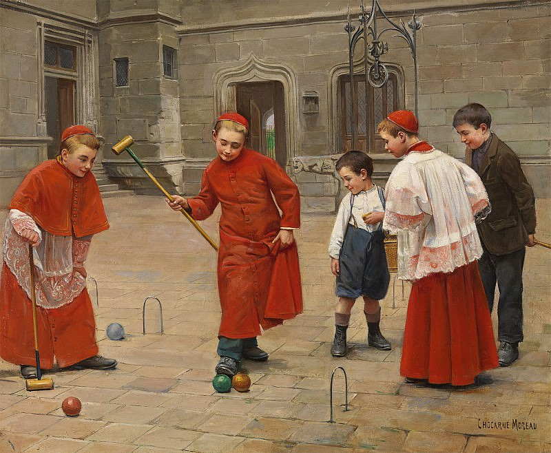 Paul Charles CHOCARNE MOREAU Playing croquet 79119 121. часть 4 -- European art Европейская живопись