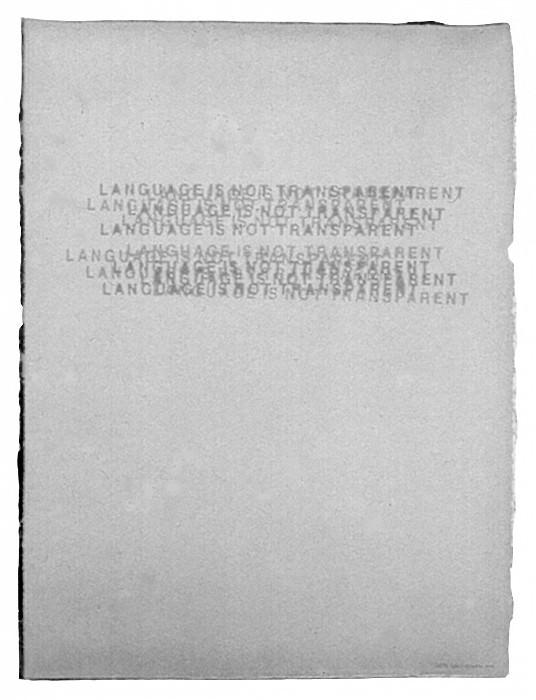 Mel Bochner Language Is Not Transparent 17412 1124. часть 4 - европейского искусства Европейская живопись