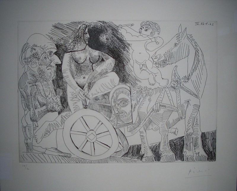 Pablo PICASSO Le char Romain 32769 3449. часть 4 - европейского искусства Европейская живопись