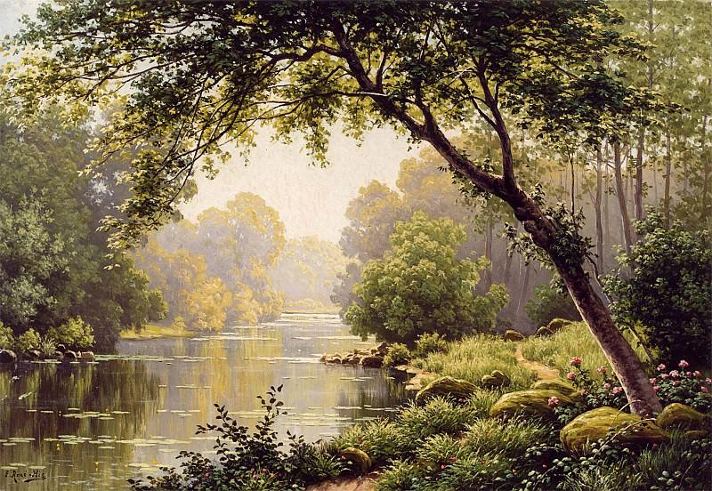 Rene Charles Edmond His Les Reflections sur la Marne 12103 2426. часть 4 -- European art Европейская живопись