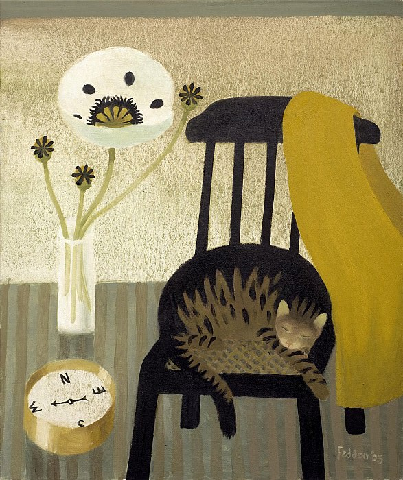 Mary Fedden The poppy the cat and the compass 98369 20. часть 4 -- European art Европейская живопись