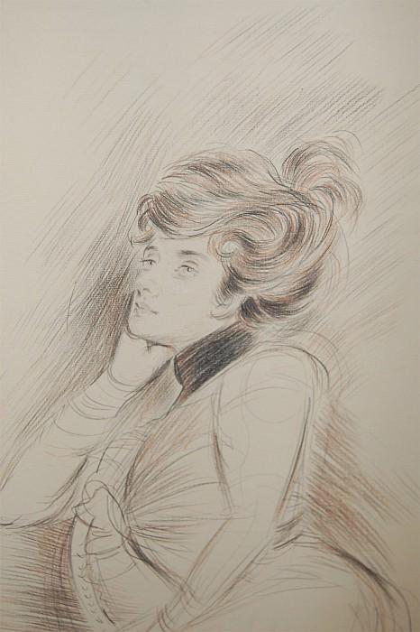 Paul CГ©sar Helleu Portrait de femme 42053 1184. часть 4 -- European art Европейская живопись
