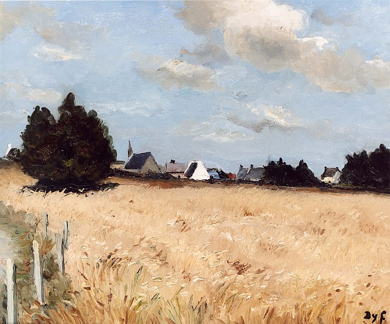 Marcel Dyf Village of Kerjouano France 11873 2426. часть 4 -- European art Европейская живопись