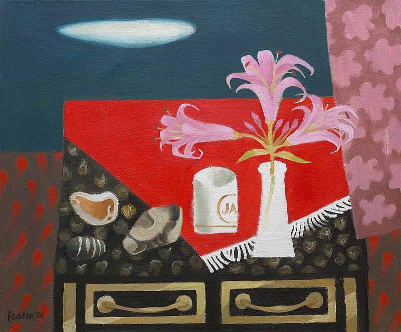 Mary Fedden Pink lilies 98359 20. часть 4 - европейского искусства Европейская живопись