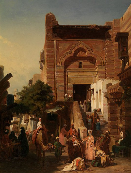 PETITEAU Edmond 19th Century French School Oriental Market 41046 121. часть 4 -- European art Европейская живопись