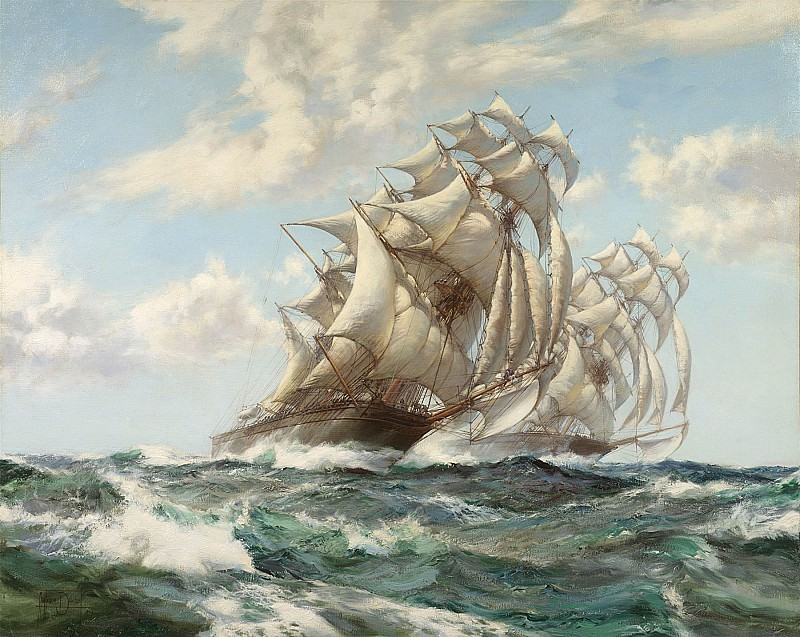 Montague Dawson The Great Race Ariel and Taeping 98079 20. часть 4 -- European art Европейская живопись