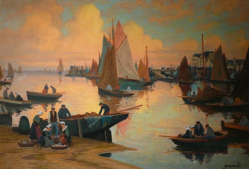 Mathurin JANSSAUD Le port de Concarneau 40845 3449. часть 4 -- European art Европейская живопись
