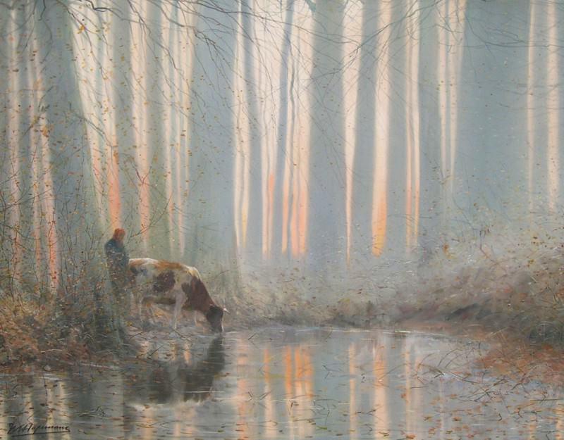 Maurice HAGEMANS Morning glory 63459 617. часть 4 -- European art Европейская живопись