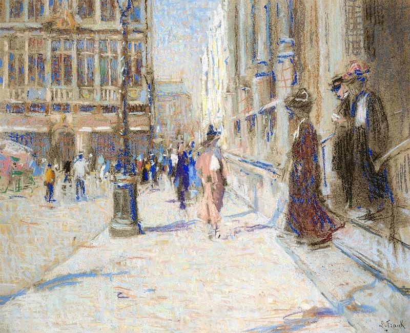 Lucien FRANK La Grand Place 105359 617. часть 4 -- European art Европейская живопись