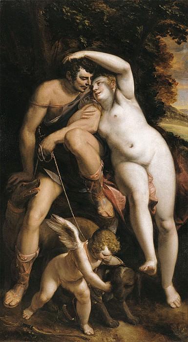 Luca Cambiaso Venus and Adonis 16101 203. часть 4 - европейского искусства Европейская живопись