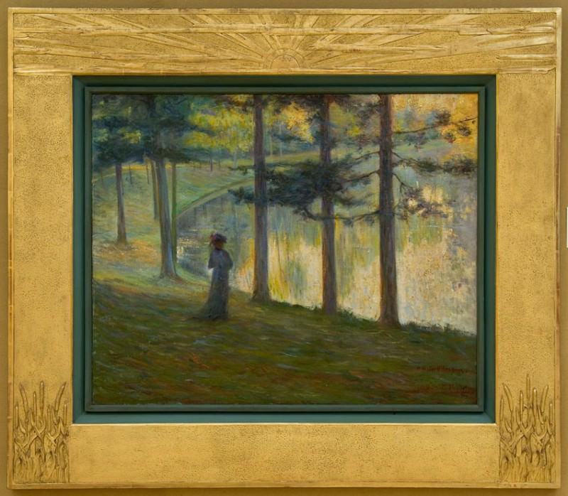 Paul PAQUEREAU By the Pond 87499 121. часть 4 -- European art Европейская живопись