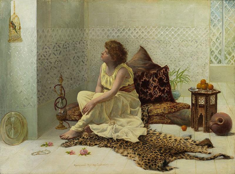 Margaret Murray Cookesley A Caged Bird 43179 3606. часть 4 -- European art Европейская живопись