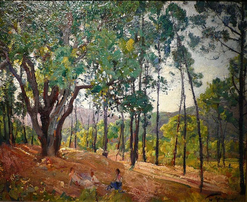 Paul CHARAVEL Promenade sous bois 39095 3449. часть 4 -- European art Европейская живопись