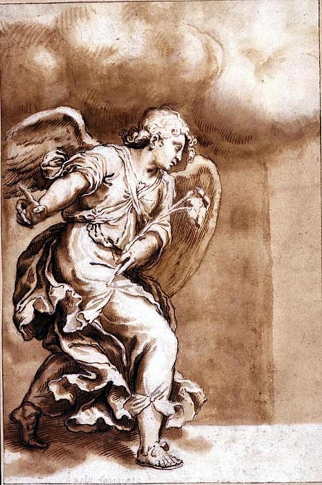 ORAZIO FARINATI Study for the Angel of the Annunciation 47779 1765. часть 4 -- European art Европейская живопись