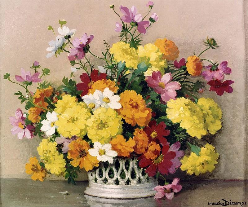 Maurice Decamps Summer Flowers 11989 2426. часть 4 -- European art Европейская живопись