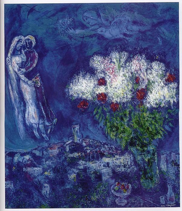 Marc CHAGALL Saint Paul dans la nuit bleue 117619 1146. часть 4 -- European art Европейская живопись