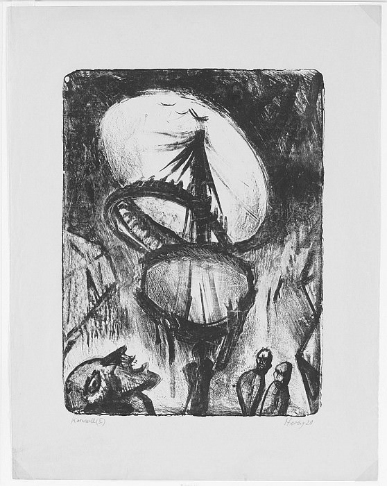 Otto Herbig Karussell II Merry Go Round 17228 1124. часть 4 -- European art Европейская живопись