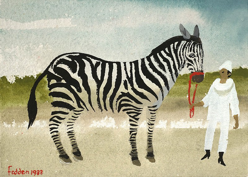 Mary Fedden Man and zebra 98319 20. часть 4 -- European art Европейская живопись
