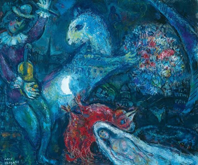 Marc CHAGALL La nuit enchantГ©e 40790 1146. часть 4 - европейского искусства Европейская живопись